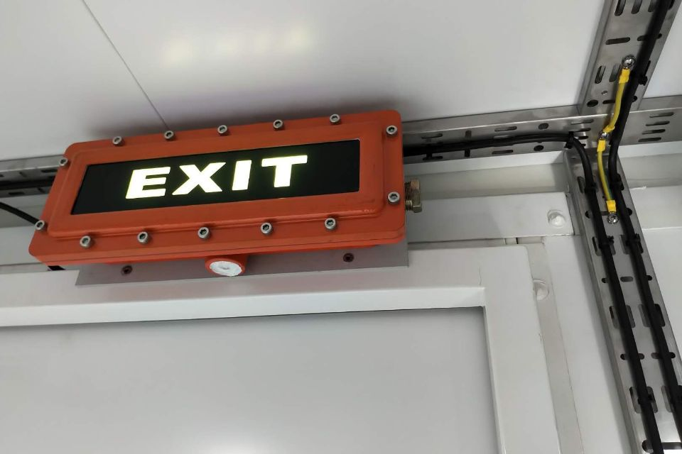 explosion proof emergency exit sign light
